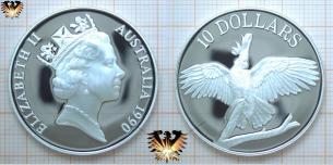 Australia 1990, 10 Dollars Münze, Cockatoo Vogel  Vorschaubild
