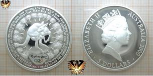 Sydney 2000 Olympiade, 5 Dollars, Silber, Kangaroo,  Vorschaubild