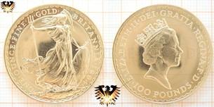Britannia, one ounce, finegold, 1994, UK, 100 Pounds, 1 Unze Goldmünze Großbritannien | Ankauf