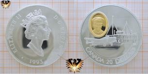 Canada, 20 Dollars 1993, Flugzeug Lockheed 14 Super Electra, Flughafen