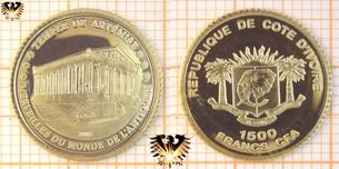 Elfenbeinküste, 1500 Francs, 2006, Artemis Tempel, Kleinste  Vorschaubild
