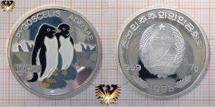 Pinguin, 100 Won, 1995, Nordkorea, Pygoscelis adeliae,  Vorschaubild