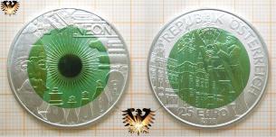 25 Euro, Silber Niob Münze, Faszination Licht, Österreich, 2008, Carl Auer von Welsbach