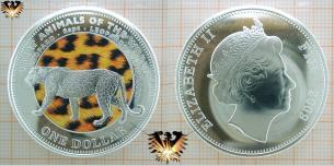 Leopard Motivmünze, Fidschi, 1 Dollar von 2009,  Vorschaubild