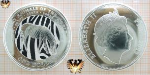 Zebra Münze aus Fiji, 2009 zu One  Vorschaubild