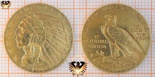 $5 Dollars, USA, 1914, Indian Head, Half Eagle, Goldmünze