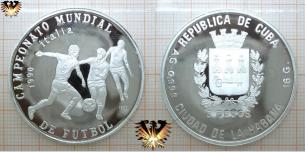 CAMPEONATO MUNDIAL, Fußballmünze, Cuba, 5 Pesos, 999,  Vorschaubild