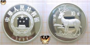 Davids-Hirsch, 10 Yuan, 1994, China, Endangered  Vorschaubild
