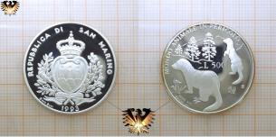 Iltis, 500 Lire, 1993, San Marino, Gefährdete  Vorschaubild