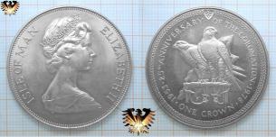 Falke, Isle of Man, Münze zu One  Vorschaubild