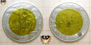 25 Euro, Jahr der Astronomie, Silber Münze mit Niob, Österreich, 2009, Galileo Gallilei