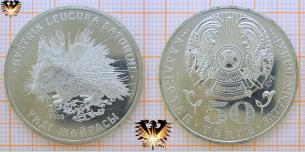 50 Tenge 2009, Kasachstan, Hystrix Leucura Satunini  Vorschaubild