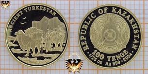 Kazakhstan, 100 Tenge, 2004, Ancient Turkestan, 1/25  Vorschaubild