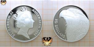 Keilschwanzadler, 10 Dollars, 1994, Australien, Endangered Wildlife,  Vorschaubild