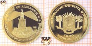 Elfenbeinküste, 1500 Francs, CFA, 2006, Sammlermünze -  Vorschaubild