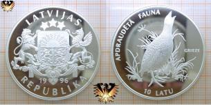 Grieze, Wachtelkönig, 10 Latu, 1996, Lettland, Apraudeta  Vorschaubild