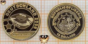 Liberia, 10 Dollars, 2004, Deutschland Fußball 2006,  Vorschaubild