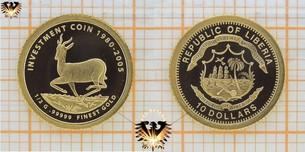 Liberia, 10 Dollars, 2005, Finest Gold Investment  Vorschaubild