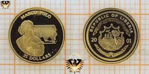Liberia, 25 Dollars, 2001 Marco  Vorschaubild