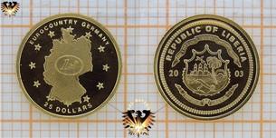 Liberia, 25 Dollars, 2003, Eurocountry Germany,  Vorschaubild