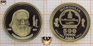 Mongolia, 500 Tugrik, Terper, Togrog, 2003, Ching  Vorschaubild