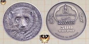 Mongolia Münze, 500 Terper 2007, Gulo Gulo  Vorschaubild