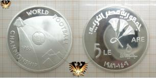 5 LE, Egypt, World Championship Mexico 1986,  Vorschaubild