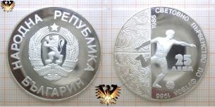25 Leva, Bulgarien 1986, Mexiko 86, Silbermünze,  Vorschaubild