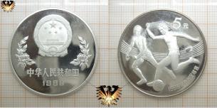 5 Yuan, Silbermünze, Ballbesitz, Fußball-Weltmeisterschaft 1986 Mexiko,  Vorschaubild