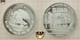 Azteca, 100 Pesos, Fußball WM, Mexico 1986,  Vorschaubild