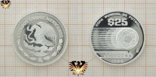 25 Pesos, Silber, Münze mit Fußball, FIFA  Vorschaubild