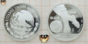 Ballführung, $50 Pesos, Mexico 86, Copa Mundial  Vorschaubild