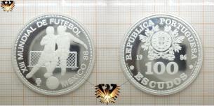 100 Escudos, Republica Portuguesa, Silbermünze, XIII Mundial  Vorschaubild