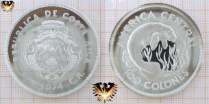 Seekuh, 100 Colones , 1974, Costa Rica,  Vorschaubild