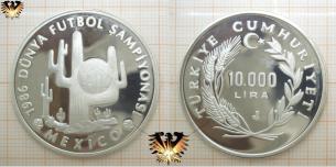 10.000 Lira, Türkiye, 1986 Mexico, Fußball-Weltmeisterschaft,  Vorschaubild