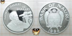 Tuvalu 20 Dollars Münze Silber 1993 Isaac Newton