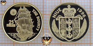 Niue, 25 Dollars, 1996, The Bounty, 1/25  Vorschaubild