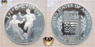 1 Dollar, World Cup, USA 94,  Liberty,  Vorschaubild