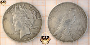 1 Dollar, USA, 1921, Peace Dollar, 1921-1935,  Vorschaubild
