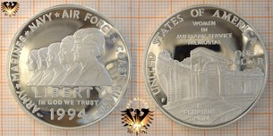 1 Dollar, USA, 1994, Women in military  Vorschaubild