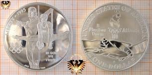 1 Dollar, USA, 1995, Atlanta Olympics 1996, Summer Olympics