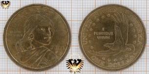 1 Dollar, USA, 2000, P, Sacagawea Dollar, (Series: Native American Dollar 1)