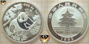 10 Yuan Silber-Panda, 1 Unze Silber 1992  Vorschaubild