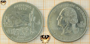 Quarter Dollar, USA, 2008, D, Arizona, 1912,  Vorschaubild