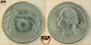 Quarter Dollar, USA, 1999, D, Georgia 1788,  Vorschaubild