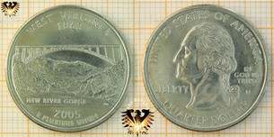 Quarter Dollar, USA, 2005, D, West Virginia  Vorschaubild