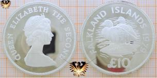 Dampfschiff-Enten: 10 Falkland-Pfund 1979,  Vorschaubild