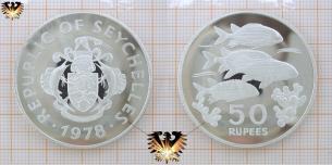 Soldaten- und Husarenfische, 50 Rupees, 1978, Seychellen  Vorschaubild