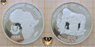 Gorilla, 500  Zaires, Wildlife of Africa, Republique  Vorschaubild