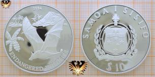 10 Tala 1994, Samoa i Sisifo Münze,  Vorschaubild